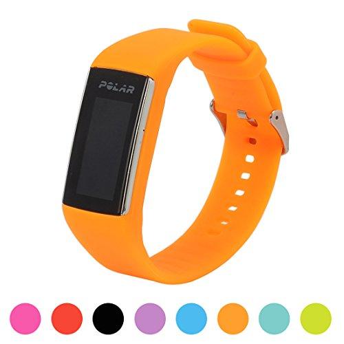 Correa de repuesto para pulsera de actividad Polar A360 Smart Watch iFeeker, correa de silicona y goma para la pulsera de actividad A360 (solo la correa, no incluye el reloj), naranja