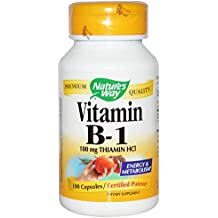 Nature's Way, Vitamin B-1, 100 mg Thiamin HCl, 100 Capsules