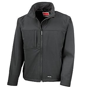 41lfhRvHA2L. SS300  - Result Mens Classic Soft Shell Jacket R121M Black M