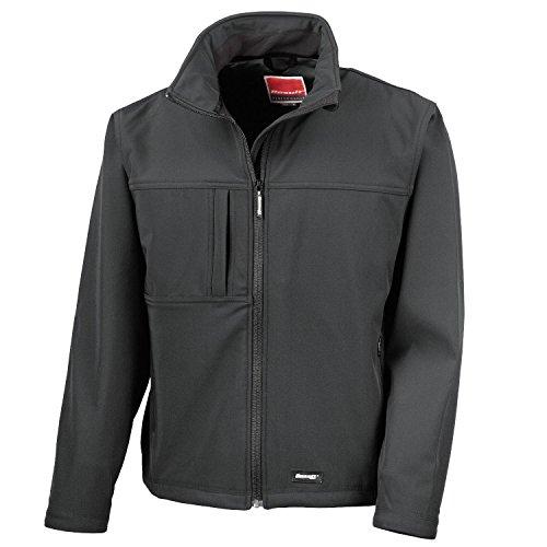 41lfhRvHA2L. SS500  - Result Mens Classic Soft Shell Jacket R121M Black M
