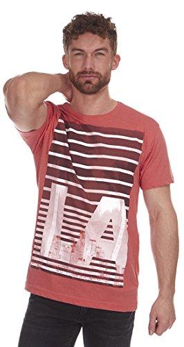 Cargo Bay Herren T-Shirt Orange LA Stripe