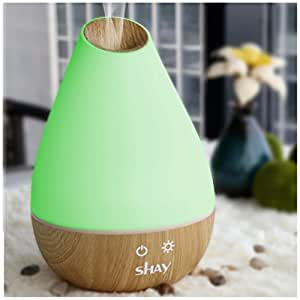 12 HOURS. SHAY COLOUR CHANGING AROMA DIFFUSER AND HUMIDIFIER. 1300ml LARGE WATER TANK. NEW DESIGN.