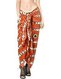 La Leela Womens Sarong Pareo Tie Dye Cover up Wrap Beach Swimsuit Bikini Skirt