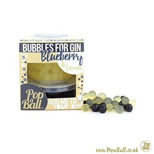 Blueberry et citron Popaball Bubbles pour le gin