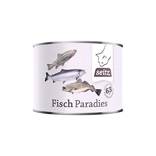 """Dose """"Fischparadies"""" (6x 200g) Dosennahrung für Katzen / Barf aus der Dose / Barf für Hunde / Hundefutter / Katzenfutter / Dosenffutter / Dosenfleisch / Barf Paket"""