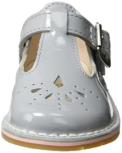 Clarks Yarn Weave Fst, Chaussures Marche Bébé Fille Gris (Grey Patent)