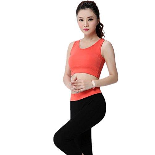 shiyuan Femme Sport Soutien-gorge de sport de yoga de fitness stretch pour femme Orange