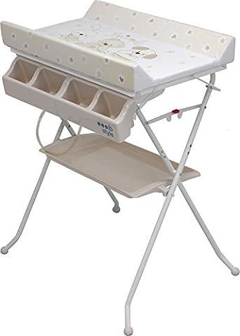 IB-Style - Changing table and bath   foldable   3 decors   baby storage bath   tub unit -