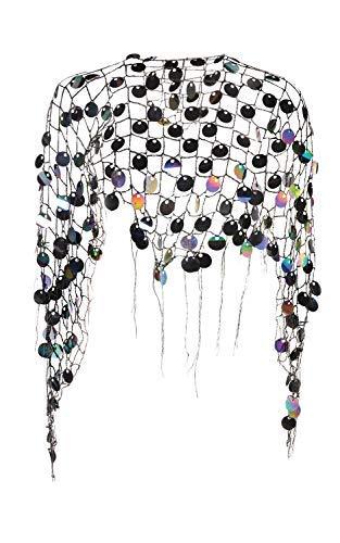 Damen Pailletten Netz Meerjungfrau See Sirene Mythisch Kreatur Halloween Karneval Fest Maskenkostüm Netz Gewickelt