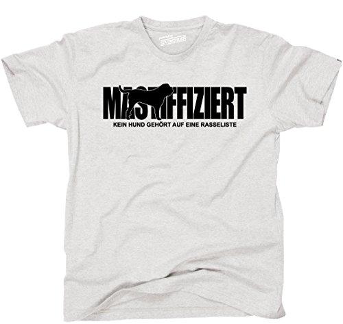Siviwonder Unisex T-Shirt MASTIFFIZIERT Mastiff Rasseliste Hunde lustig fun Ash