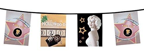 NEU Wimpelkette Hollywood, 6 (Und V Kostüme Hollywood)