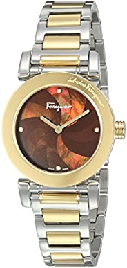 Salvatore Ferragamo Women's Analog Quartz Watch with Stainless-Steel Strap FP174