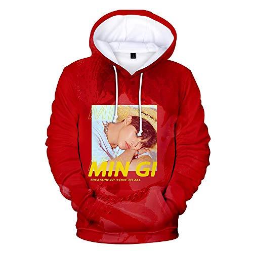 er,Unisex 3D Gedruckte Song Und Tanz Kombination Thema Jugend Kapuzen Sweatshirt Hoodie Lässig Paar Pullover Loses Hemd, Ateez, S ()