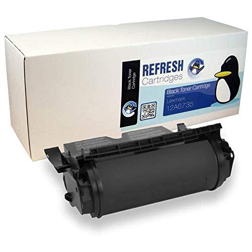 Refresh Cartridges Wiederaufgearbeitete Tonerkartusche für Lexmark 12A6735 Schwarz - 12a6735 Tonerkartusche