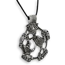 Things2Die4para hombre de metal colgante collares sin plomo Peltre dios nórdico Loki colgante peltre modelo # odn-529