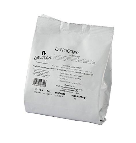 Odc made in italy kit formato da 100 capsule cappuccino compatibili con le macchine da caffè di marchio nespresso.