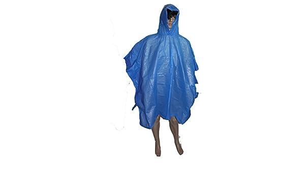 LIFETIME travel Poncho Impermeabile Giallo Taglia Universale 100/x 130/cm 4/Colori Giallo Rosso Verde Blu Materiale PE