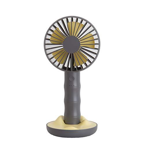 Syeytx Mini Handventilator, USB Ladestation Persönlicher tragbarer Tischventilator für Kinderwagen, Tischventilator, elektrischer Ventilator Mit Handyhalter für Baby, Weihnachten, Haushalt, Outdoor -