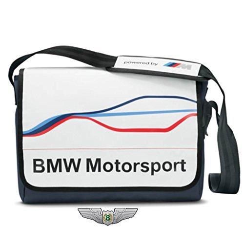 BMW NUEVO GENUINO M MOTORSPORT MESSENGER BOLSO BANDOLERA (COLOR BLANCO) 80222285881