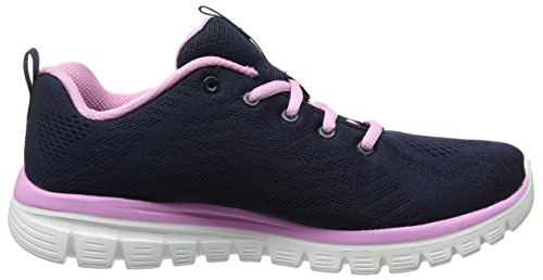 Skechers Damen Graceful-Get Connected Sneaker Blau (Navy/Pink)