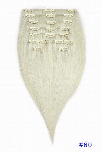 "Dhermo Bela Human Hair Haarverlängerung, 26""65cm 5oz(141g) 7pcs, , #60 Platinum Blonde, Stück: 1"