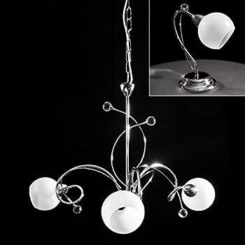 kit lampadario a sospensione + 2 abat jour cromate con cristallo ... - Bajour Per Camera Da Letto