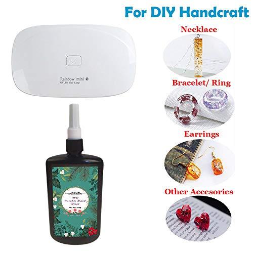dharz UVkleber Nagel Kunst Werkzeuge, 1 PC Mini UV LED Lampe für DIY Hauptberufshandwerks Schmucksache Ohrring Halsketten Armband Nagel Kunst Zusätze ()