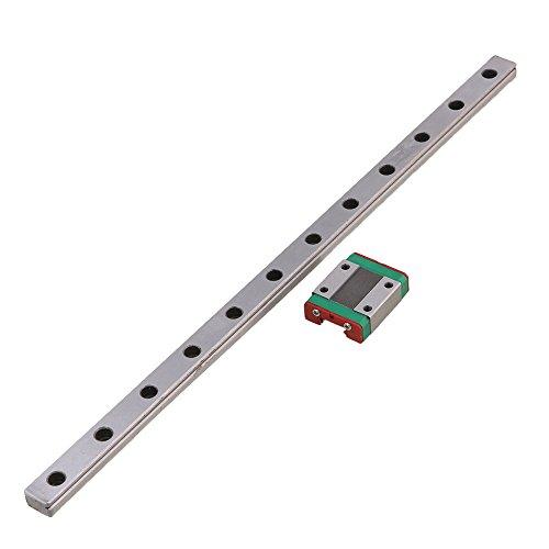 30cm Länge Silber MGN15 PräzisionsLager Stahl linear Schiebeleiter und Schiebe Block Satz