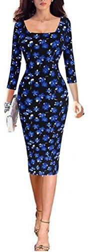 sunifsnow-abito-fasciante-basic-alla-francese-maniche-a-3-4-donna-blue-large