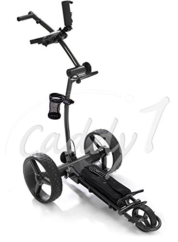 Elektro Golf Trolley CADDYONE 700 in Darkgrey mit Lithium-Akku