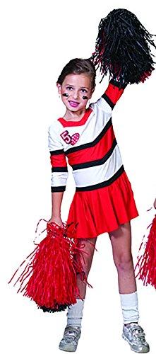 chamboolee - Cheerleader Kostüm für Kinder, 128-134, 8-9 Jahre, (Kostüm Cheerleader 50's)