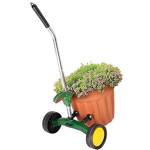Wheeled Garden Plant Pot Trolley