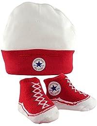Converse Baby Mütze & Stiefel-Socken, Rot
