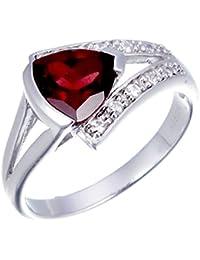Sterling Silver Garnet Ring (1 CT)