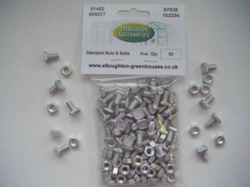 50 haute résistance en aluminium à effet de boulons et écrous pièces Elite Serres authentiques