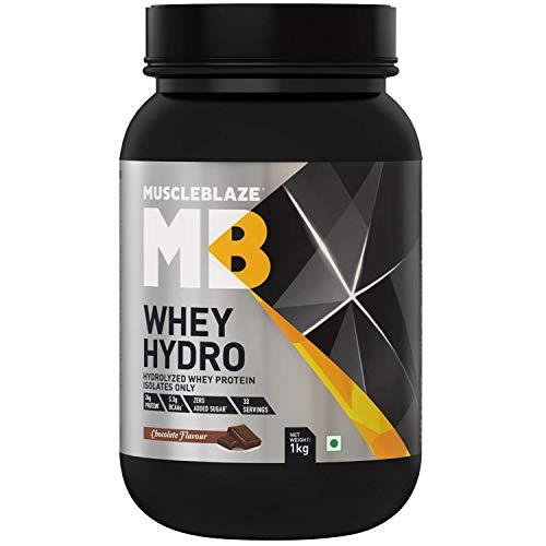MuscleBlaze Whey Hydro Whey Protein Isolate (1 Kg, Chocolate)