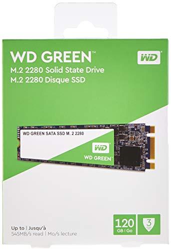 Foto Western Digital WDS120G2G0B Unità allo Stato Solido SSD Interna SATA M.2 2280, 120 GB, Green [Versione 2018]