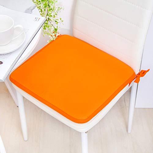 KKLTDI Anti-rutsch Küche Stuhlkissen, Memory Schaum Weich Tatami Sitzkissen Mit Krawatten Atmungsaktivem Orthopädisches Sitzkissen Für Esszimmerstuhl-orange-Quadrat 40x3cm(16x1inch) - Schönen Speisesaal Möbel