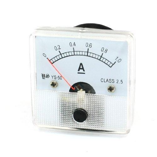 DealMux Platz Analog Panel-Ampere-Meter Spur Ampere YS-50 DC 0-1.0A Ampere Panel