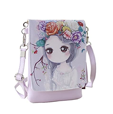 Teens Girls Kids Students Cute Cartoon Theme Mini sacs à bandoulière Cross Body Bags Key Money Téléphone portable Porte-documents Sac à main petite sacoche à embrayage