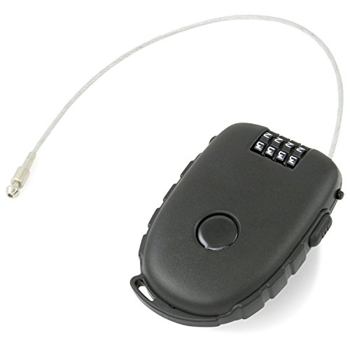 SAFELOCKS Premium Kabelschloss mit 90 cm langem Kabel - individueller Zahlencode - super leicht und kompakt - optimal zur kurzfristigen Sicherung von Ski, Snowboard, Fahrrad, Kinderwagen und Gepäck