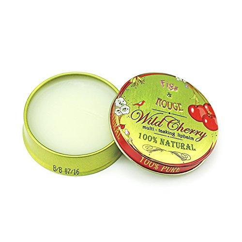 Figs & Rouge Baume pour les Lèvres Parfum Wild Cherry Boîte Métal 17 ml