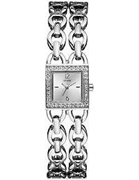 Guess Damen-Armbanduhr TRAPEZE Analog Quarz Edelstahl W85100L1