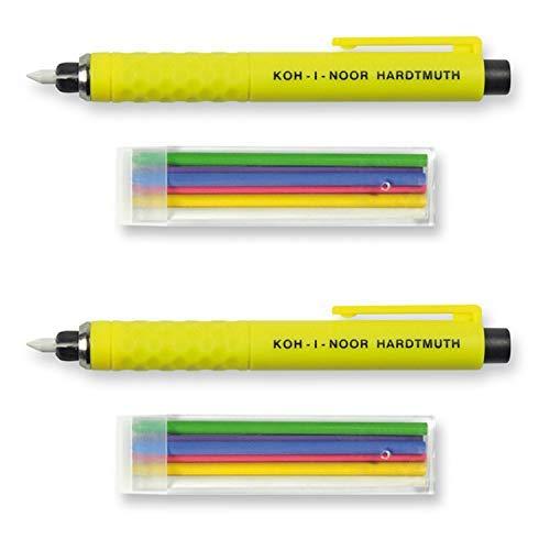 adaef4d64 Koh-I-Noor S128 - Lápiz de plástico Amarillo con 6 Minas de Colores