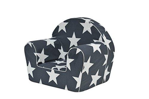 MoMika chaise enfant | fauteuil | Siège de canapé | Tabouret pour enfants Enfants | Meubles pour enfants | 0-4 ans | (White-Star)