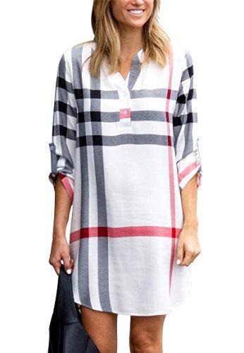 Jusfitsu camicia - tunica - donna bianco small