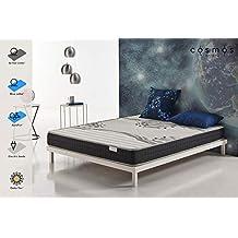 COSMOS® - COLCHÓN Genesis 135x190 cm – Espuma ADAPTATIVA Active Latex® - Compatible SOMIER