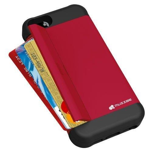 Muzzbe Anti Shock Case With Card Cash Holder For IPhone 5 5S