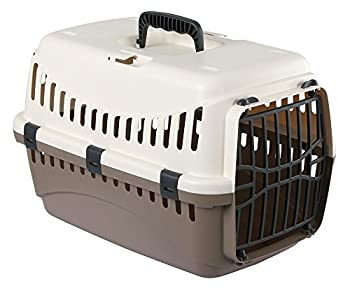 KERBL Box de Transport Expédition pour Chiens 45 X 30 X 30 cm Crème/Taupe