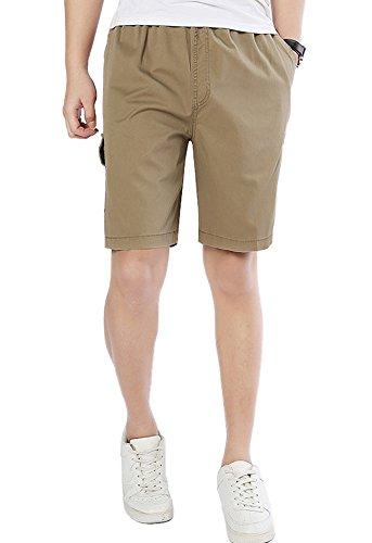 DQQ Herren Short Gr. xl, Gelb - Khaki (3 Pocket-basketball-shorts)